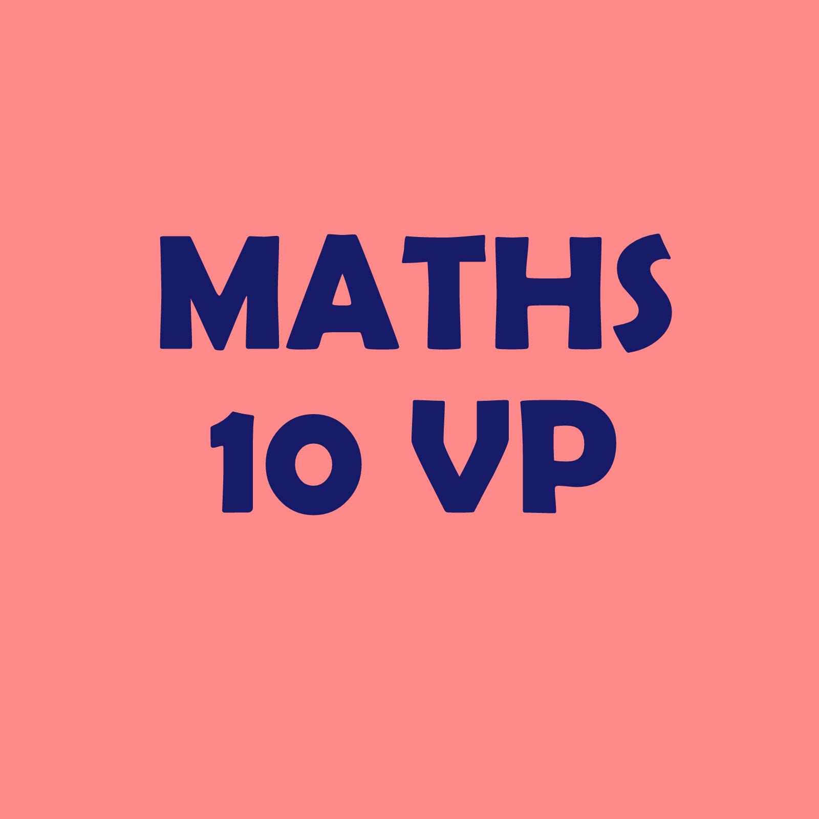 Calendrier 10VP – maths