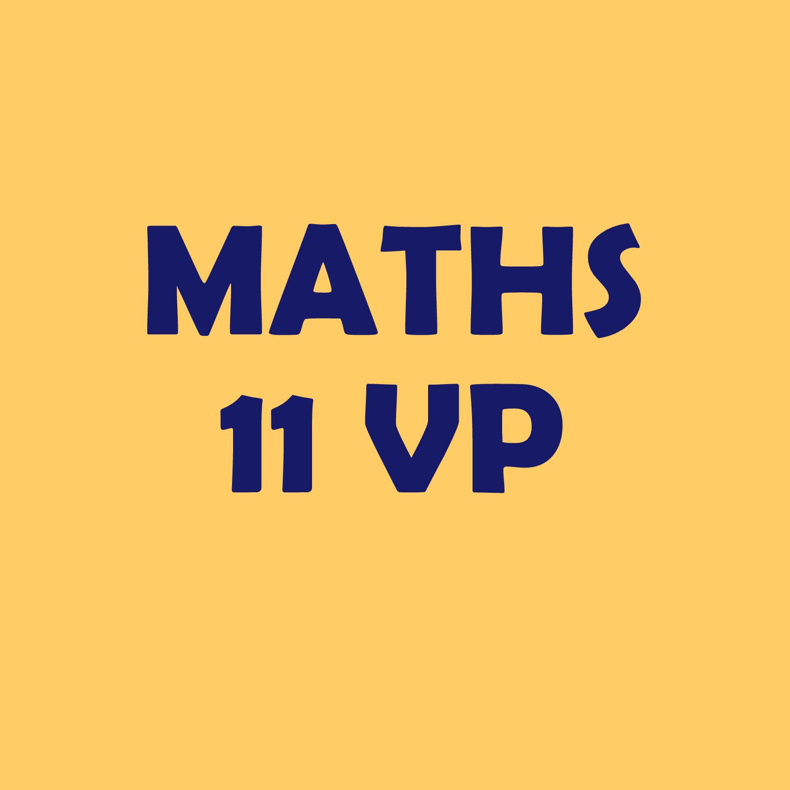 Calendrier 11VP – maths