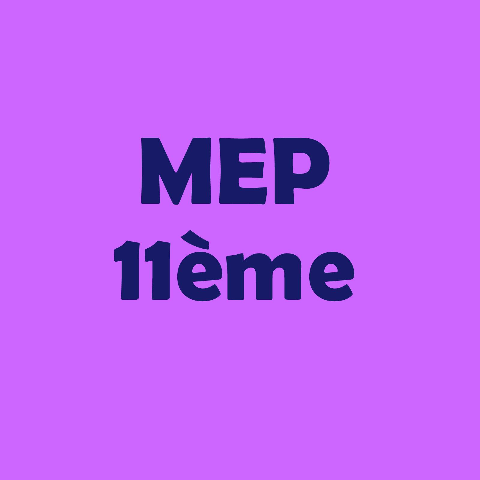 Calendrier 11VP – MEP