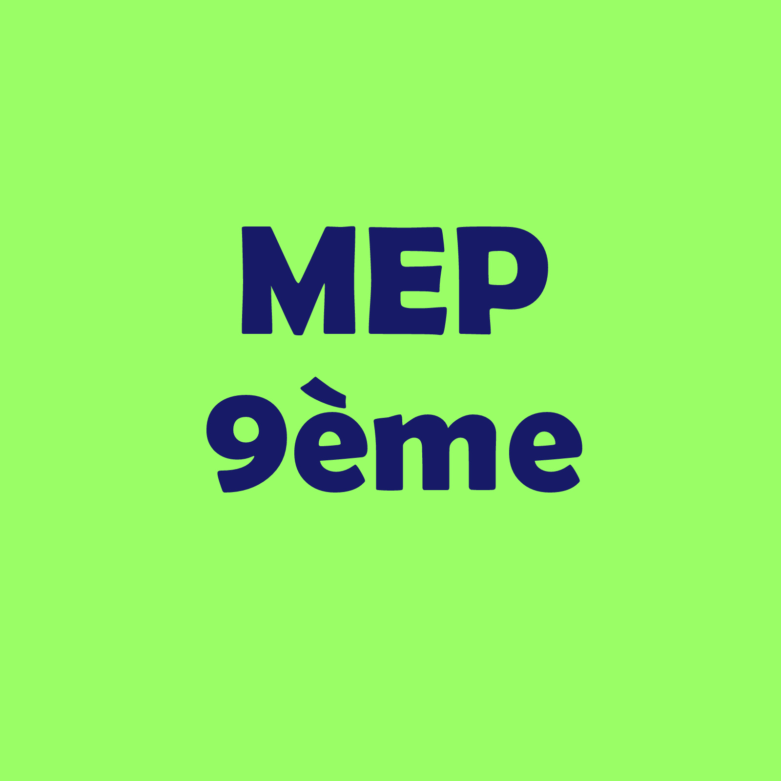Calendrier 09VP – MEP